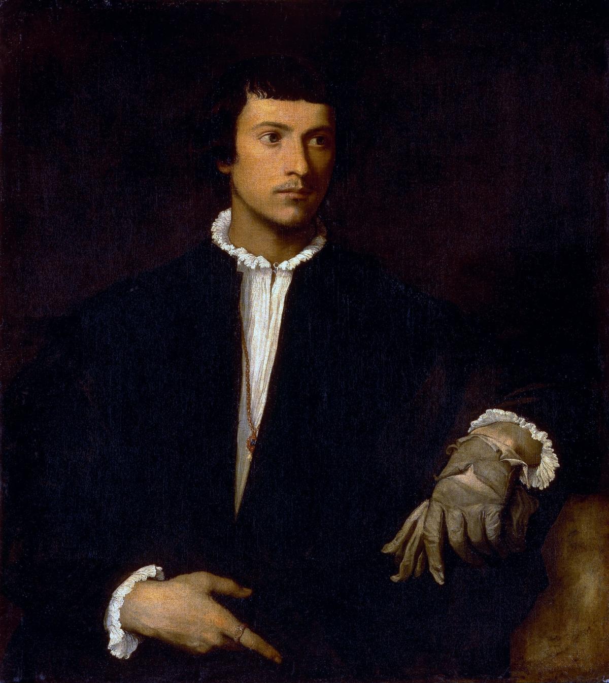 L'Homme au gant tableau peint par Le Titien