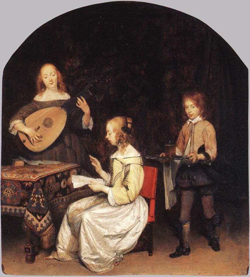 Le concert tableau peint par Gerard ter Borch