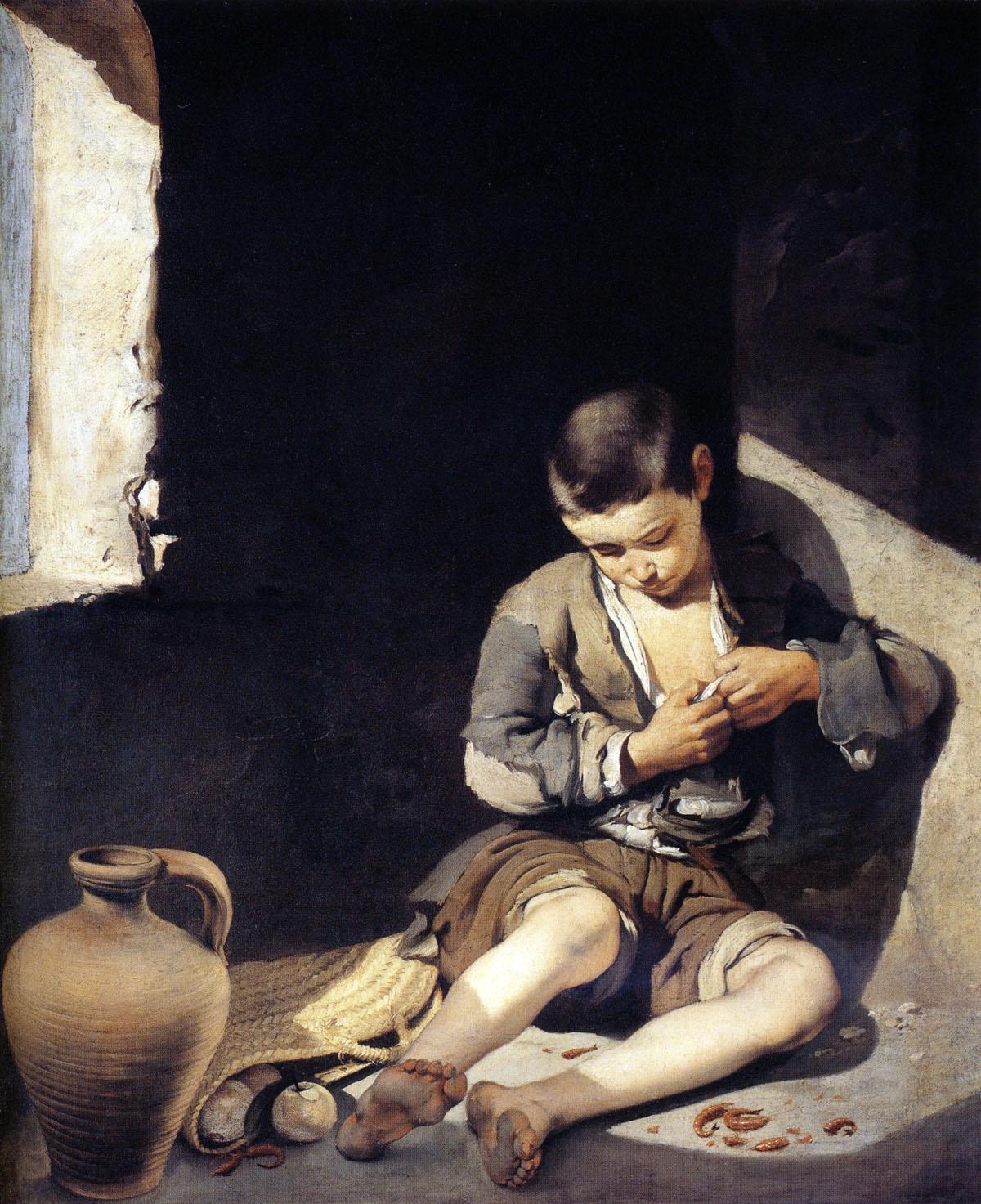 Le jeune mendiant peint par Bartolomé Esteban Murillo