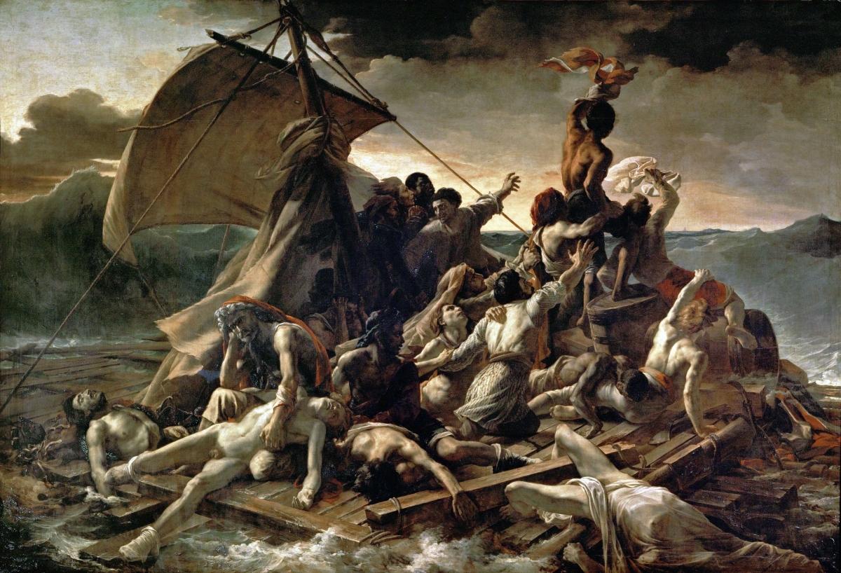 Le Radeau de la Méduse tableau peint par Théodore Géricault