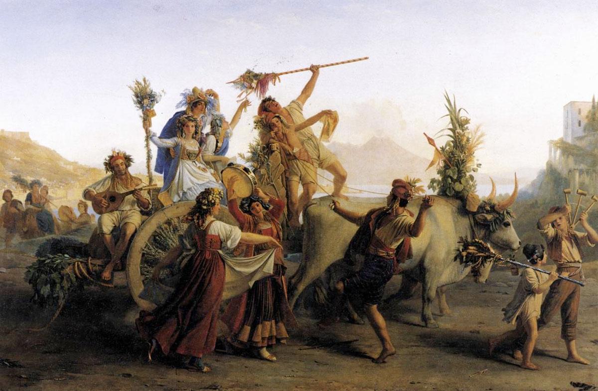 Le Retour du pèlerinage à la Madone de l'Arc tableau peint par Léopold Robert