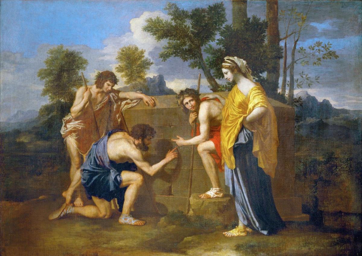 Les Bergers d'Arcadie tableau peint par Nicolas Poussin