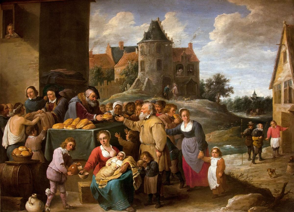Les oeuvres de miséricorde tableau peint par David Tenier le jeune vers 1640