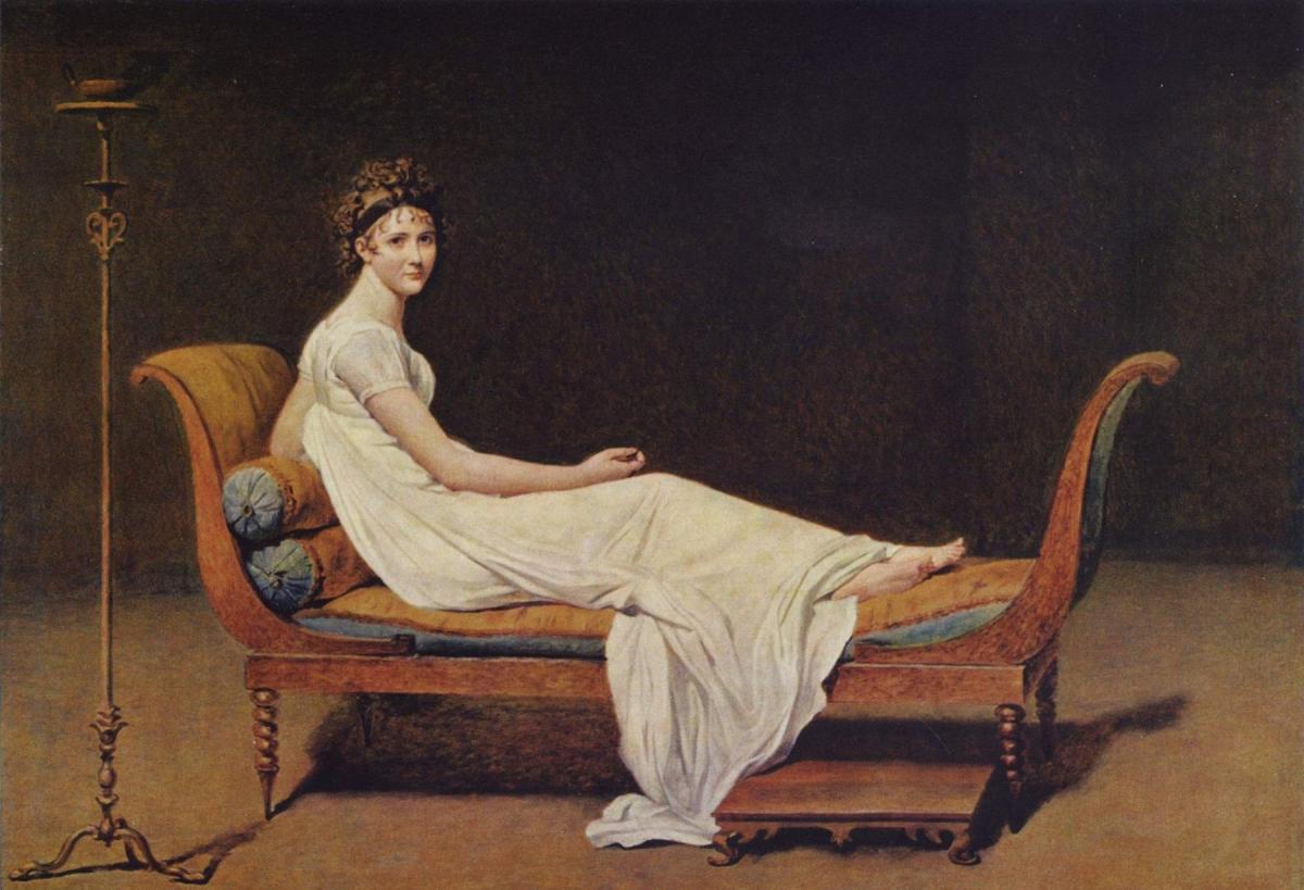 Madame Récamier tableau peint par Jacques-Louis David en 1800