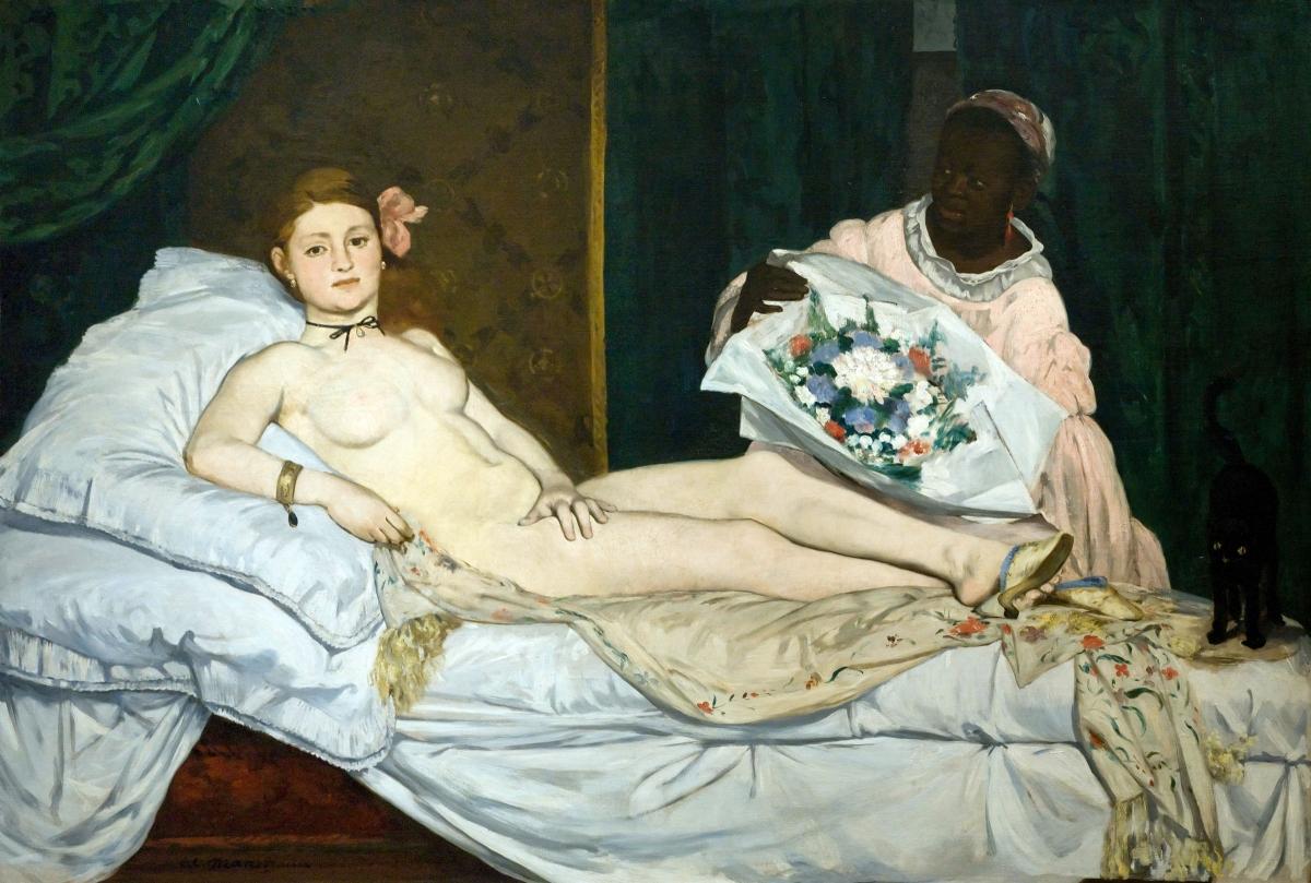 Olympia tableau de Edouard Manet peint en 1863