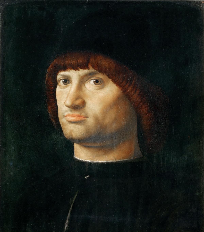 Portrait d'homme (Le Condottiere) tableau peint par Antonello de Messine