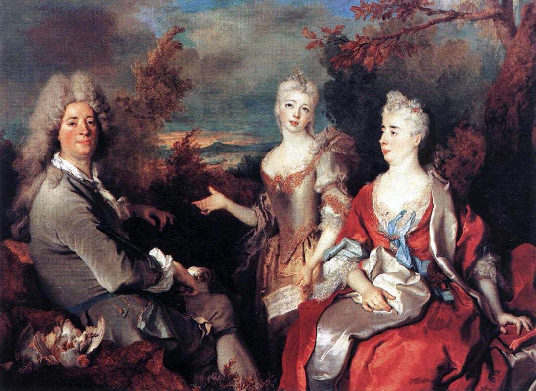 Portrait de Famille tableau peint par Nicolas de Largillierre