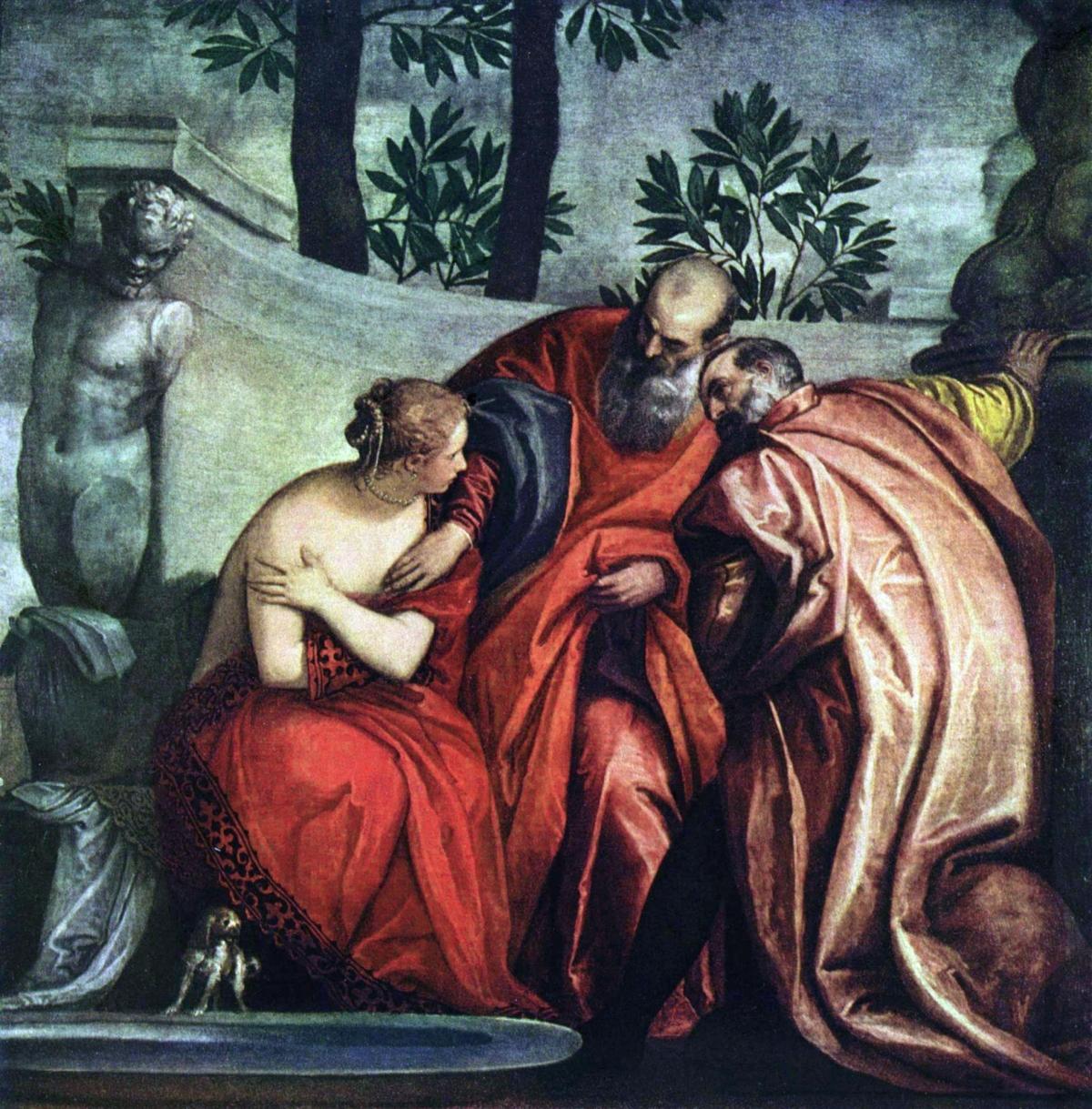Suzanne et les vieillards peint par Paul Véronèse
