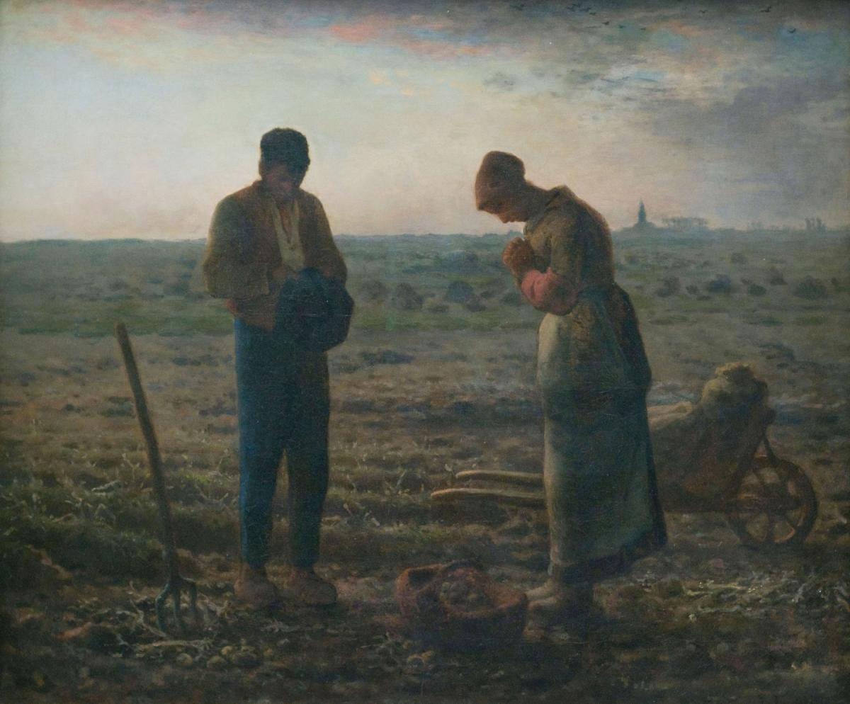L'Angélus tableau peint par Jean-François Millet