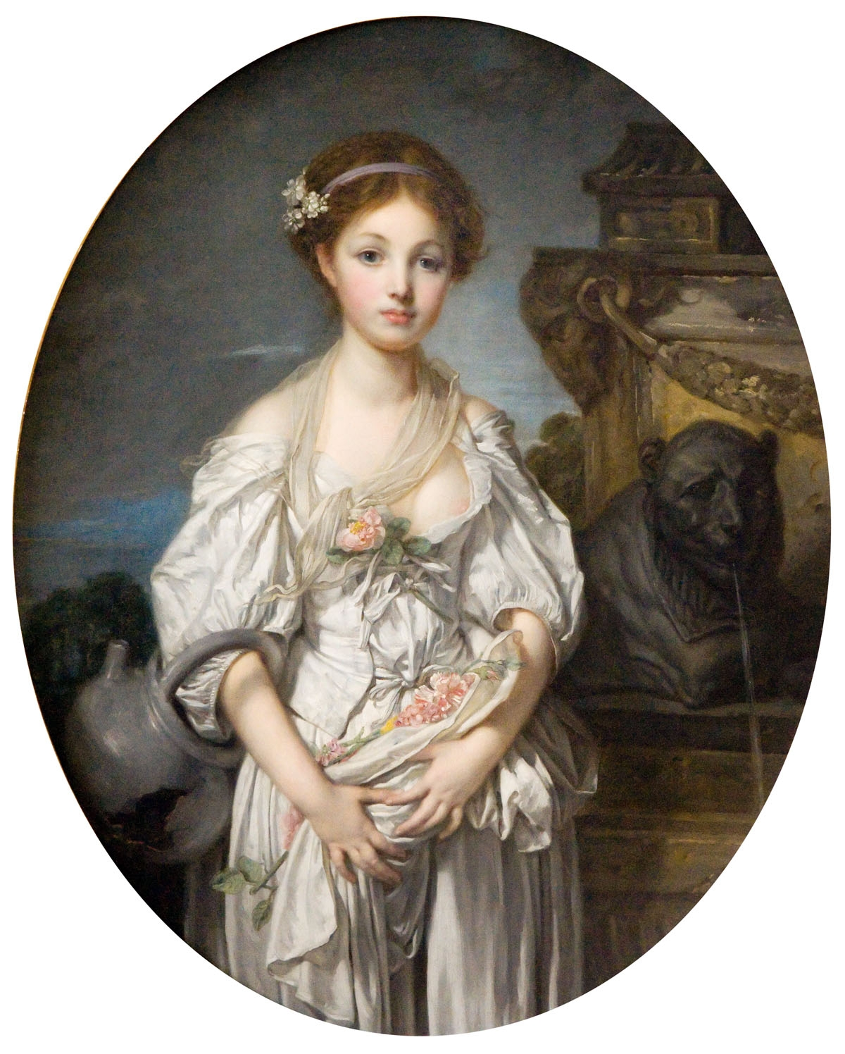La Cruche cassée tableau peint par Jean-Baptiste Greuze