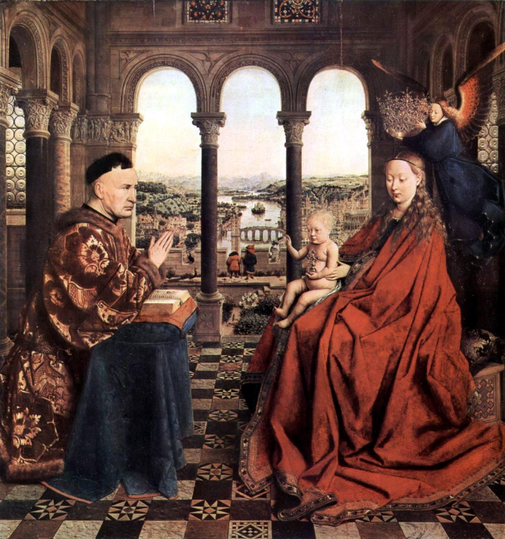 La Vierge du chancelier Rolin peint par Jean van Eyck vers 1435