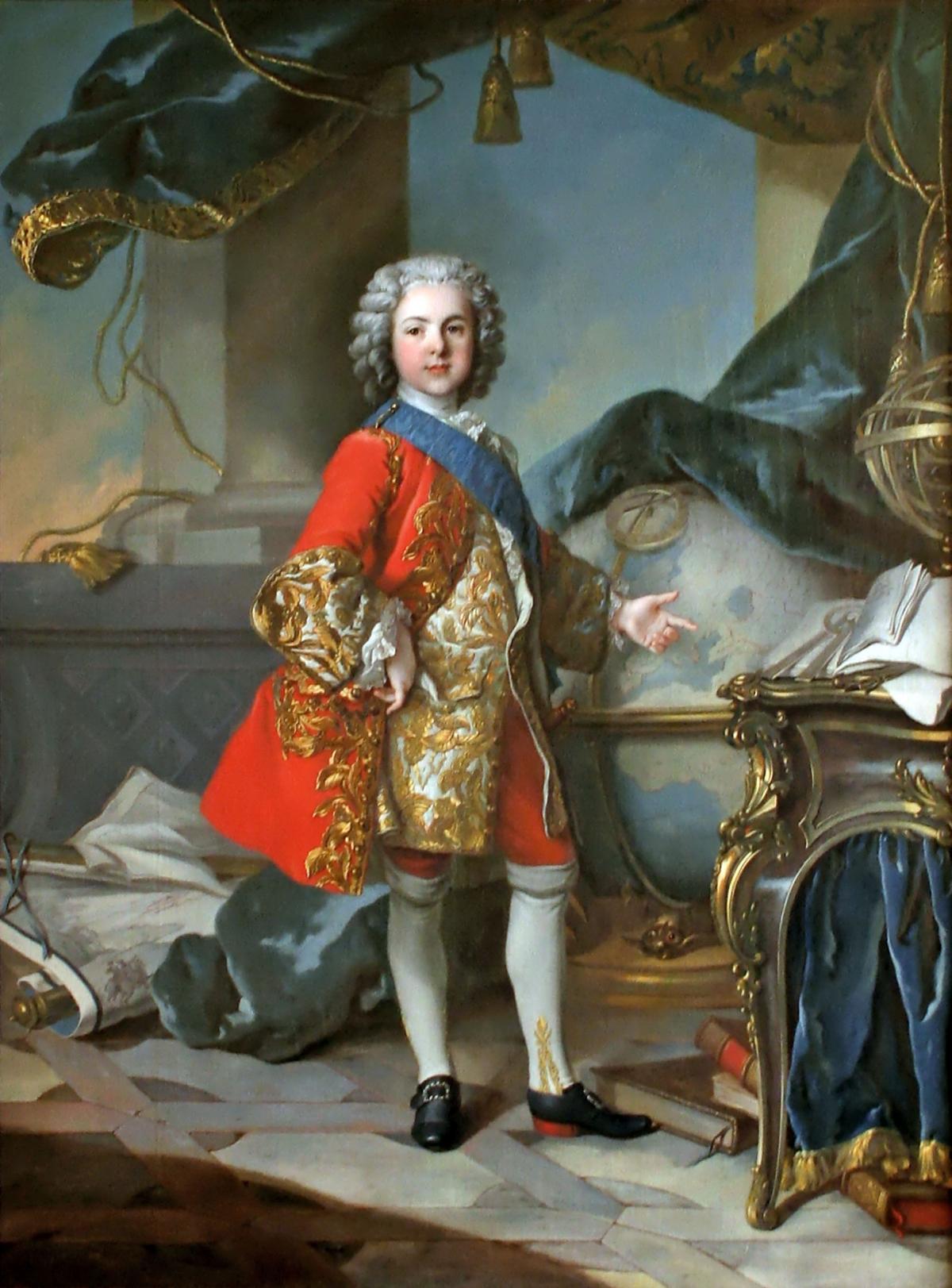 Le Dauphin Louis de France tableau peint par Louis Tocqué