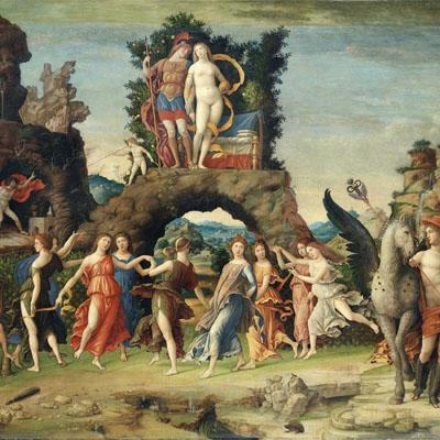 Le Parnasse tableau peint par Andrea Mantegna