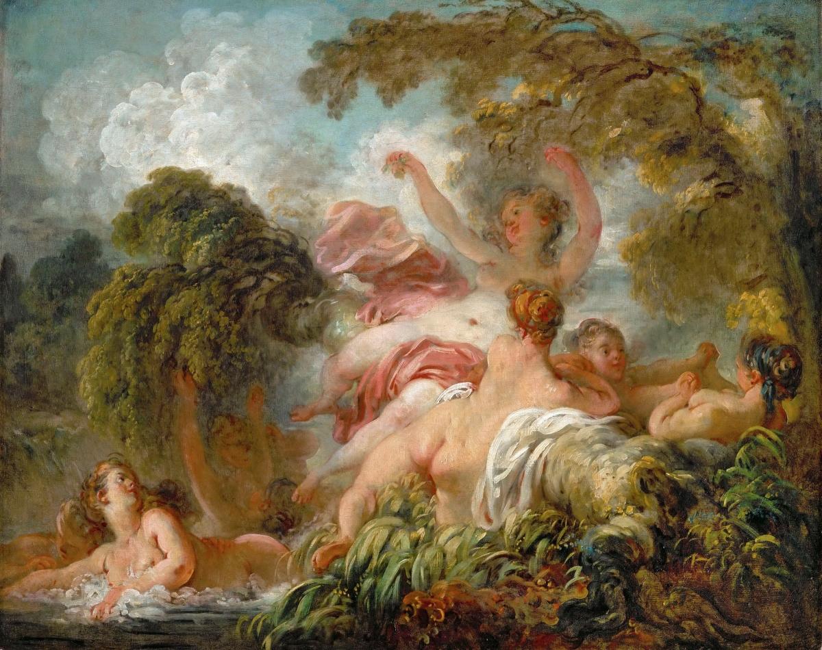 Les Baigneuses tableau peint par Jean-Honoré Fragonard