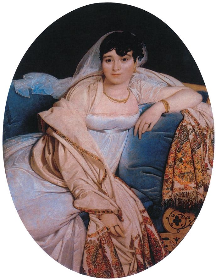 Madame Rivière tableau peint par Jean-Dominique-Auguste Ingres