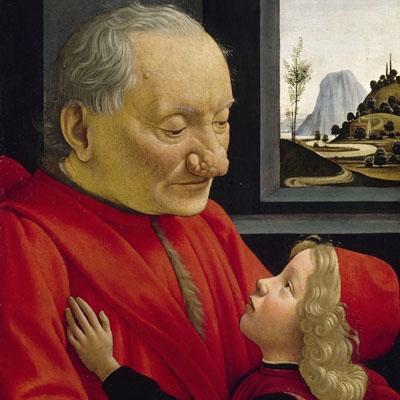 Portrait d'un vieillard et d'un jeune garçon peint par Domenico Ghirlandaio