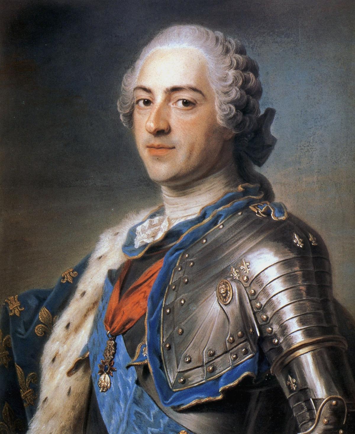 Portrait de Louis XV par Maurice Quentin de La Tour