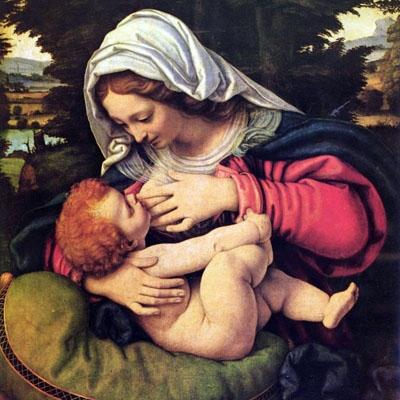 La Vierge au coussin vert