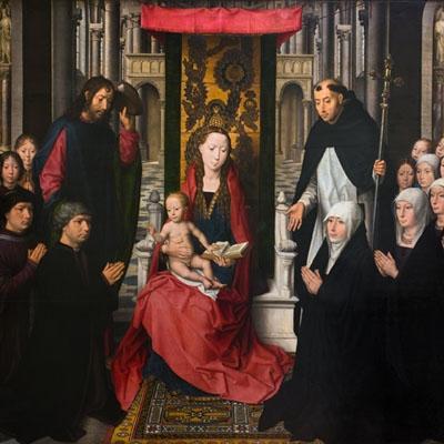 La Vierge et l'Enfant entre saint Jacques et saint Dominique